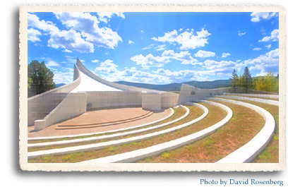 The chapel at the Vietnam Veteran's war Memorial State Park in Angel Fire, NM